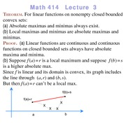 Lecture 3 on Linear Programming