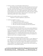 ANT 171 Study Guide
