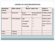 ndambuki powerpoint a model of consumer behaviour