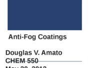 Chem 550 - Anti-Fog