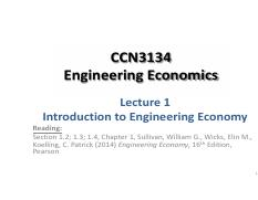 CCN3134 Lecture 01