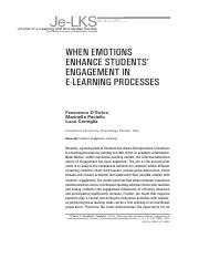 WHEN EMOTIONS
