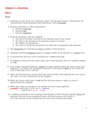 Chapter 3 -Part I - Lecture Notes