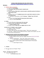 Genre , form and Vocal Works Notes
