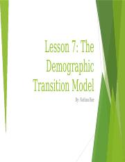 Demographic Transition Model_Nathan Bae