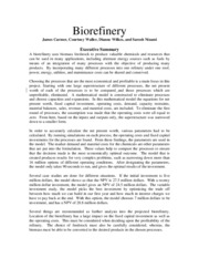 Biorefinery-Abstract