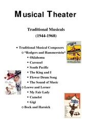 Intro to theater Musical Theater  traditional teams7