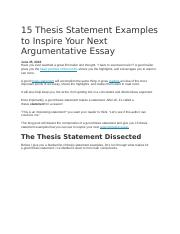 15 Thesis Statement Examples to Inspire Your Next Argumentative Essay.docx
