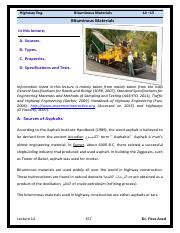 Lec 14 Highway Eng -  Asphalt Types Tests and Specifications.pdf