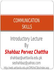 Introduction to Communication Skills (Lecture# 1)