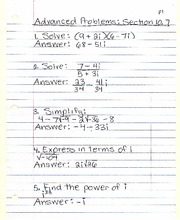 Advanced Problems Section 10.7
