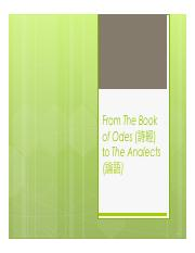 3-The Book of Odes and The Analects