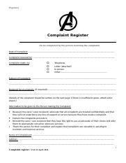 Assessment-Task 2-Complaint Register.doc