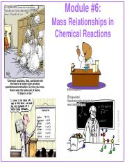 Module #6 - Mass Relationships in Chemical Reactions