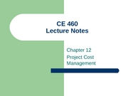CE 460 Chapters 12 & 15
