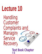 ServicesMarketingLecture10 Complaints and Service Recovery