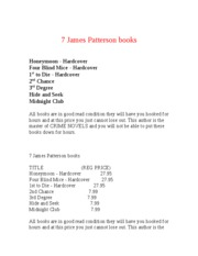 7 James Patterson books