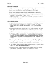 Chapter 12 Finance Study Guide