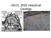 GEOL 2020 Historical  Geology