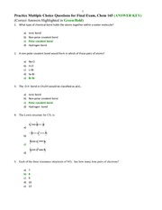 Final Exam Questions-- Answers