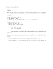 Recursive Code for Greatest Common Divisor and Proof