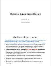 Lecture -1- Thermal Equipment Design - Introduction.pdf