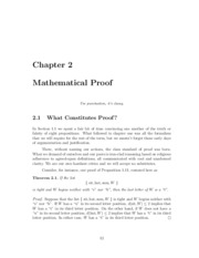 Chapter 2 - Mathematical Proof Part 1