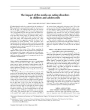 The impact of the media on eating disorders