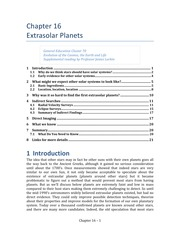 Chap 16 Extrasolar Planets