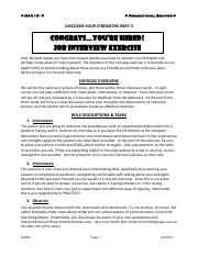 DYS Part 2 - Job Interview Activity (Fall 2013)