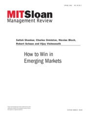 How to win in emerging markets. journal article