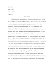 Concert Two Essay