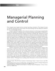 Chapter 10   Managerial Planning And Control