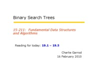 10 Binary Search Trees