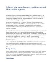 Difference between Domestic and International Financial Management.docx