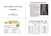 Overview of Design for Product Safety