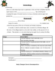 Printables Forensic Entomology Worksheet dead reckoning bugs reading1 name date forensic 5 pages entomology guided notes edited1