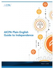 AICPA Guide to Independence