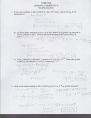 Introduction to Thermodynamics Worksheet CHM 104 - GENERAL ...