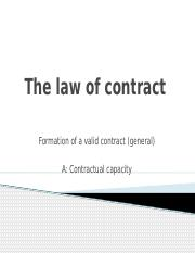 Buslaw 1 - Part B _1_ - Contract _Formation _ Capacity_.pptx