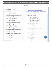Equations physics