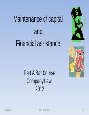 Maintenance of capital and financial assistance.wms