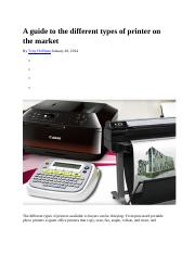 A guide to the different types of printer on the market