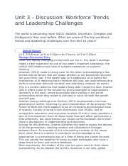 Unit 3 – Discussion- Workforce Trends and Leadership Challenges.docx