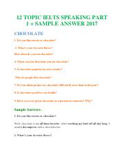 12 TOPIC IELTS SPEAKING PART 1 + SAMPLE ANSWERS 2017.pdf