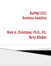 BusMgt 2321 Course Slides 2 - Decision Analysis.pptx