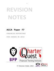 ACCA F7 REVISION NOTES