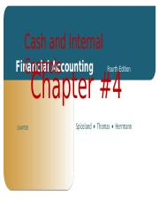 Financial Accounting Chapter #4