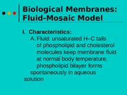 Chapter 4-Membranes