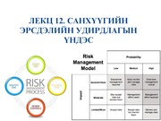Lecture 12. Principles of Risk Management, 2015